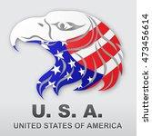 american eagle flag. stock... | Shutterstock .eps vector #473456614