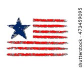 american flag grunge  symbol... | Shutterstock .eps vector #473459095