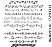 set of vector hand drawn... | Shutterstock . vector #473459965
