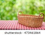 empty wicker basket on the... | Shutterstock . vector #473461864