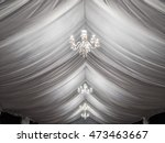 classic white chandeliers on...   Shutterstock . vector #473463667