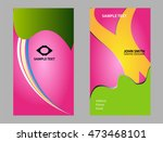 business card set  | Shutterstock .eps vector #473468101