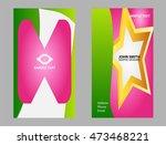 business card template  | Shutterstock .eps vector #473468221