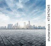 empty marble floor with... | Shutterstock . vector #473474245
