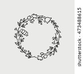 vector wreath made with... | Shutterstock .eps vector #473488615