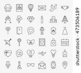 love heart line icons set.... | Shutterstock .eps vector #473506189