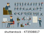 young cartoon businessman in... | Shutterstock . vector #473508817