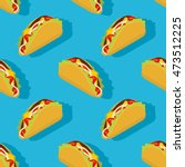 taco seamless pattern.... | Shutterstock .eps vector #473512225
