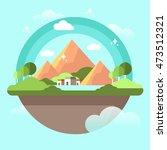 nature landscape illustration... | Shutterstock .eps vector #473512321