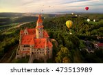 aerial view on romantic fairy... | Shutterstock . vector #473513989
