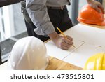 architect holding pencil... | Shutterstock . vector #473515801