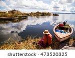 uros island in lake titicaca ... | Shutterstock . vector #473520325