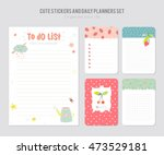 cute daily planner template.... | Shutterstock .eps vector #473529181