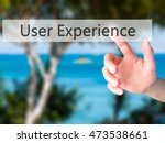 user experience   hand pressing ...