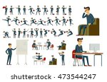young cartoon businessman in... | Shutterstock . vector #473544247