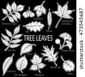 set of nature pictograms  tree... | Shutterstock .eps vector #473545687
