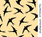 swallow pattern   vector... | Shutterstock .eps vector #473546791