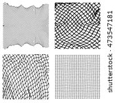net pattern. rope net vector... | Shutterstock .eps vector #473547181