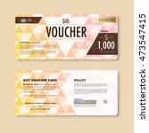 luxury gift voucher template.... | Shutterstock .eps vector #473547415