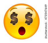 about money surprised face.... | Shutterstock .eps vector #473547649