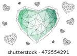 green heart isolated on white... | Shutterstock .eps vector #473554291