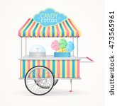 cotton candy street market... | Shutterstock .eps vector #473565961