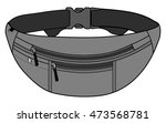 Illustration of fanny pack (waist pouch) | Shutterstock vector #473568781
