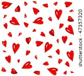 red heart seamless pattern | Shutterstock . vector #47357320