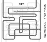 the elements of the pipeline.... | Shutterstock .eps vector #473574685