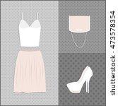 clothing set. vector... | Shutterstock .eps vector #473578354