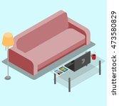 vector illustration of a living ... | Shutterstock .eps vector #473580829