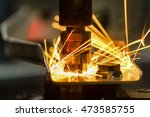 spot nut welding to automotive... | Shutterstock . vector #473585755