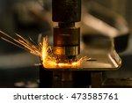 welding nut. | Shutterstock . vector #473585761