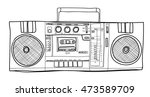 vector stereo boombox radio... | Shutterstock .eps vector #473589709