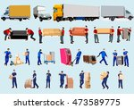 moving house  moving office ... | Shutterstock .eps vector #473589775
