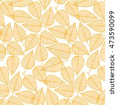 autumn pattern from leaves.... | Shutterstock .eps vector #473590099