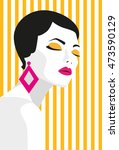 fashion girl. bold  minimal... | Shutterstock .eps vector #473590129