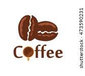 simple modern coffee logo... | Shutterstock .eps vector #473590231