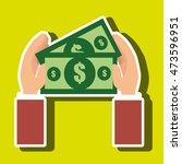 money bills dollar tax vector... | Shutterstock .eps vector #473596951