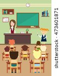 school lesson pupils and... | Shutterstock .eps vector #473601871