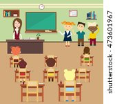 school lesson pupils and... | Shutterstock .eps vector #473601967