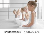 Cute Girls Training At Ballet...
