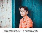 Small photo of LAGOA SANTA, BRAZIL - AGO, 2016: Boy 11 Years Old