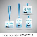 id card man blue | Shutterstock .eps vector #473607811