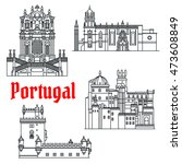 portugese travel sights icon... | Shutterstock .eps vector #473608849