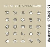 set of solid shopping icons.... | Shutterstock .eps vector #473609401