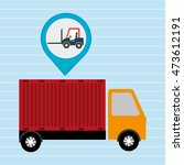 truck delivery cargo pin vector ...   Shutterstock .eps vector #473612191
