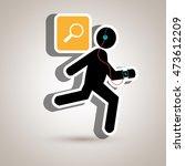 running sport headphones... | Shutterstock .eps vector #473612209