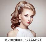fashion portrait of young... | Shutterstock . vector #473622475
