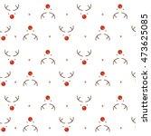 reindeer seamless pattern | Shutterstock .eps vector #473625085